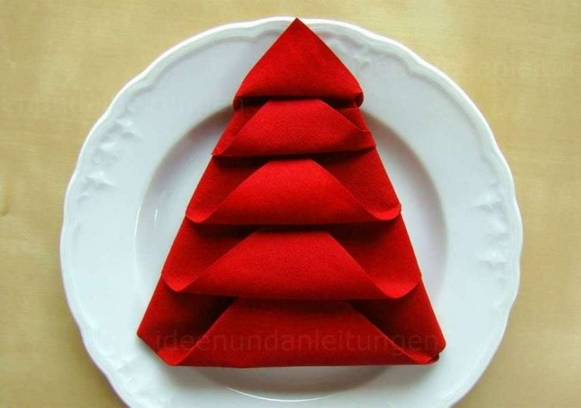 Napkin folding for christmas: Star, Christmas Tree, Pocket - 3 different techniques - DIY