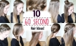 Ten 60 Second Heatless Hairstyles / 1 Minute Hairstyles | Quick Hairstyles